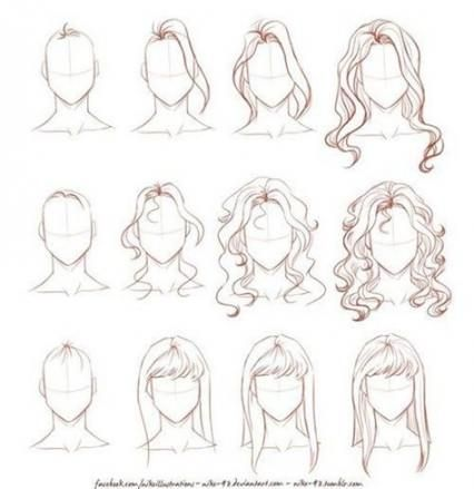 37  Ideas For Hair Drawing Step By Step Sketch