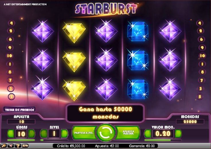 StarBurst Tragaperras - Juega StarBurst Tragaperras - http://www.tragamonedas-paraiso.com/juegos/starburst-tragaperras