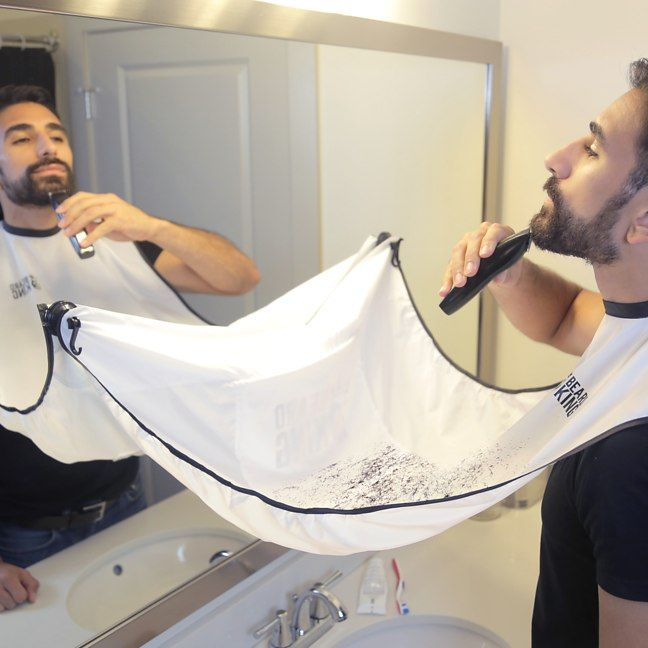 The Beard Bib - Shave-ty Net: Everyone knows that cleaning up after youve finished shaving is a thankless task. Try as you might you can never quite gather up all of those stray hairs ndash. Get more details on this cool gift idea here: http://tidd.ly/56a