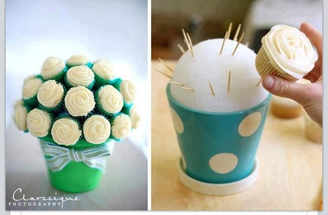 Great way to display cupcakes.......