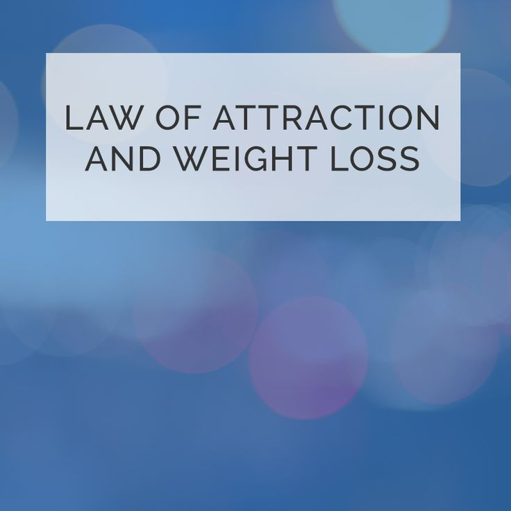 weight loss law of attraction
