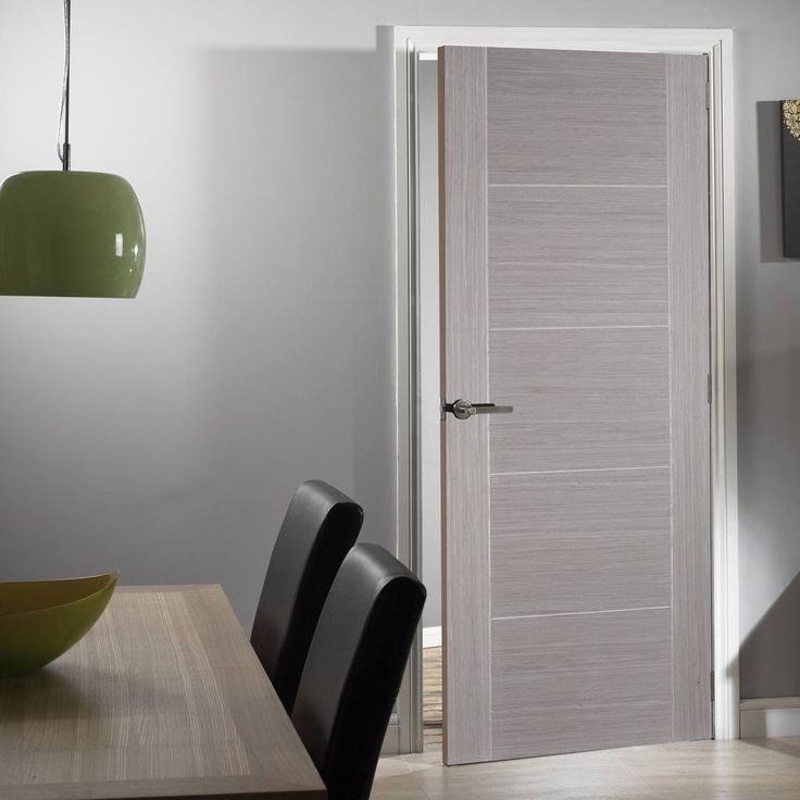 Light Grey Vancouver Fire Door is Prefinished and 1/2 Hour Fire Rated. #greyflushdoor #greydoor #flushinternalgreydoor