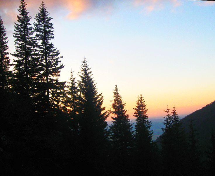 sunset in Fagaras