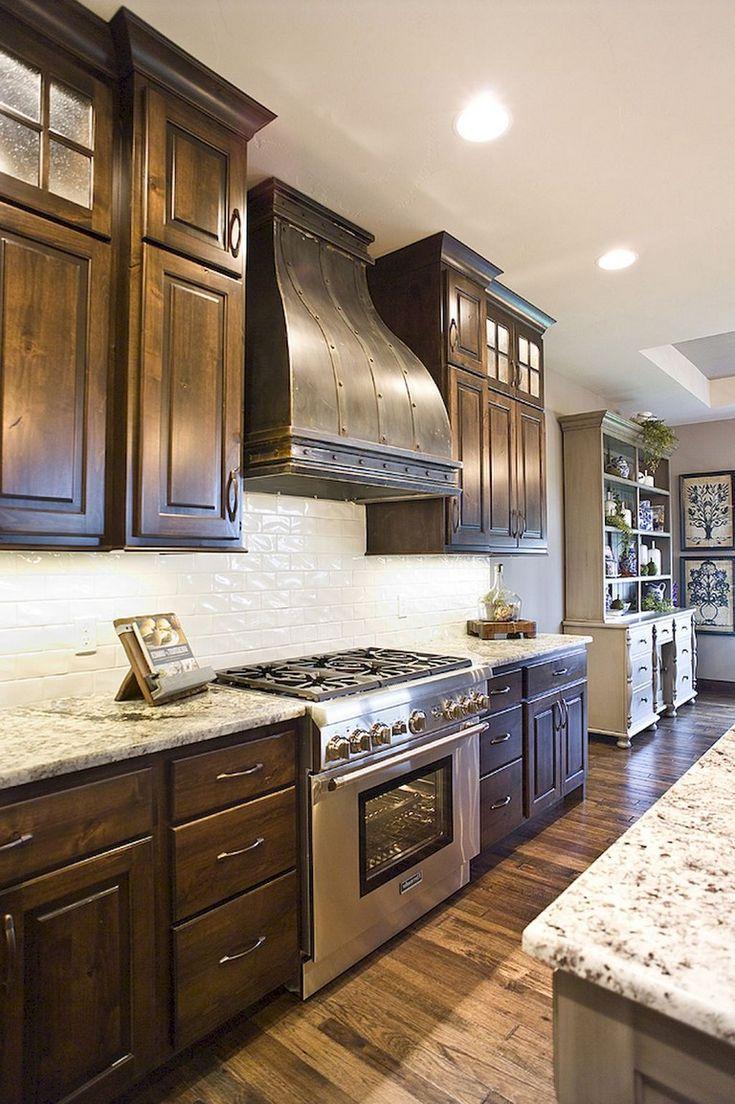 Kitchen Ideas Dark Cabinets In 2020 Espresso Kitchen Cabinets Rustic Kitchen Backsplash With Dark Cabinets