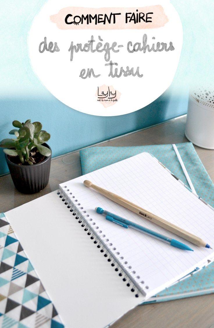 diy tutoriel comment coudre un joli protège-cahier en tissu, couture facile pour la rentrée des classes
