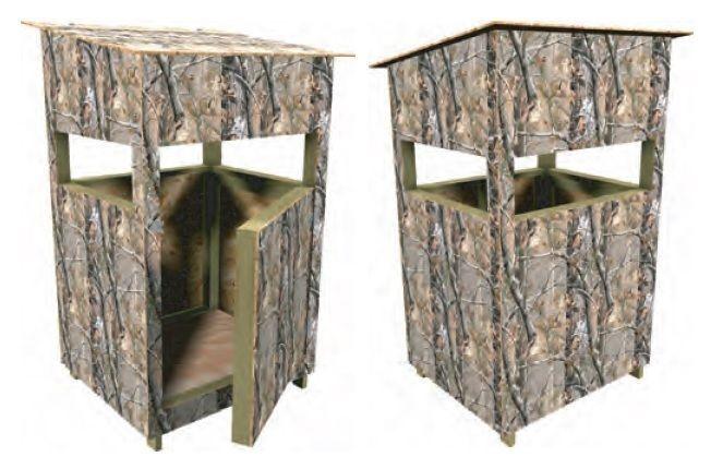 17 best ideas about deer stands on pinterest deer for Box blind blueprints