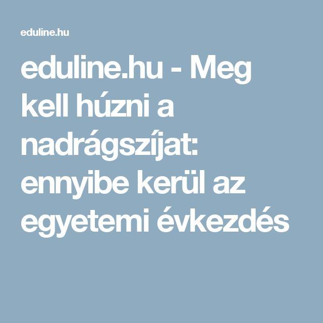 eduline.hu - Meg kell húzni a nadrágszíjat: ennyibe kerül az egyetemi évkezdés
