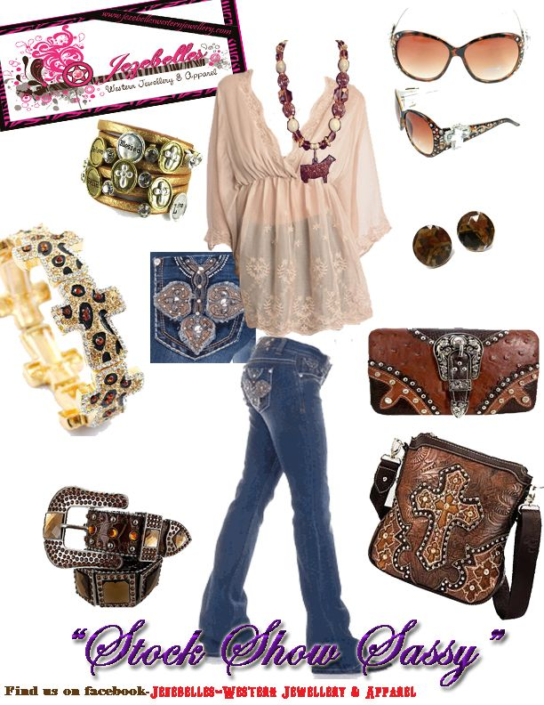 """""""stock Show Sassy""""!! You can find all of these items plus hundreds more on our facebook page -Jezebelles- Western Jewellery & Apparel"""