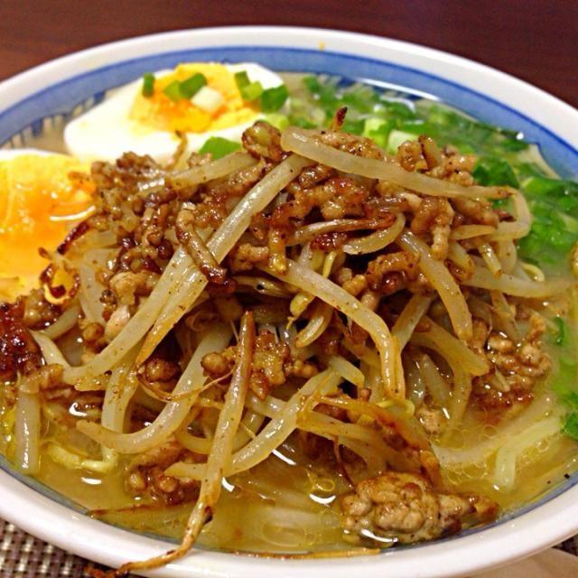 モヤシひき肉と玉子をトッピング!お家で作っててもラーメンは上手い! - 5件のもぐもぐ - 味噌ラーメン!(๑>◡<๑) ɭ by masaru6shiho