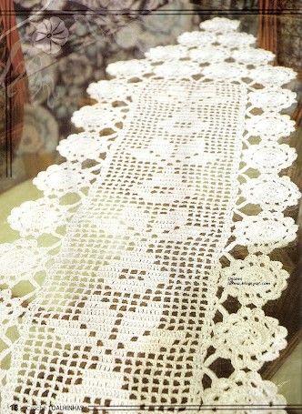 17 best images about croch on pinterest for Chemin de table crochet