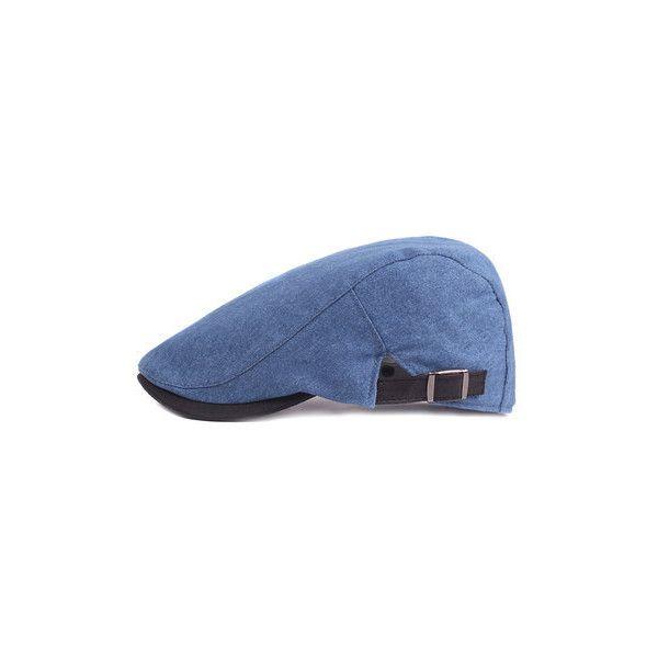 s Gatsby Flat Cowboy Beret Cap ($8.94) ❤ liked on Polyvore featuring men's fashion, men's accessories, men's hats, cap, hats, headwrap, deep blue, mens cowboy hats, mens headband and mens hats