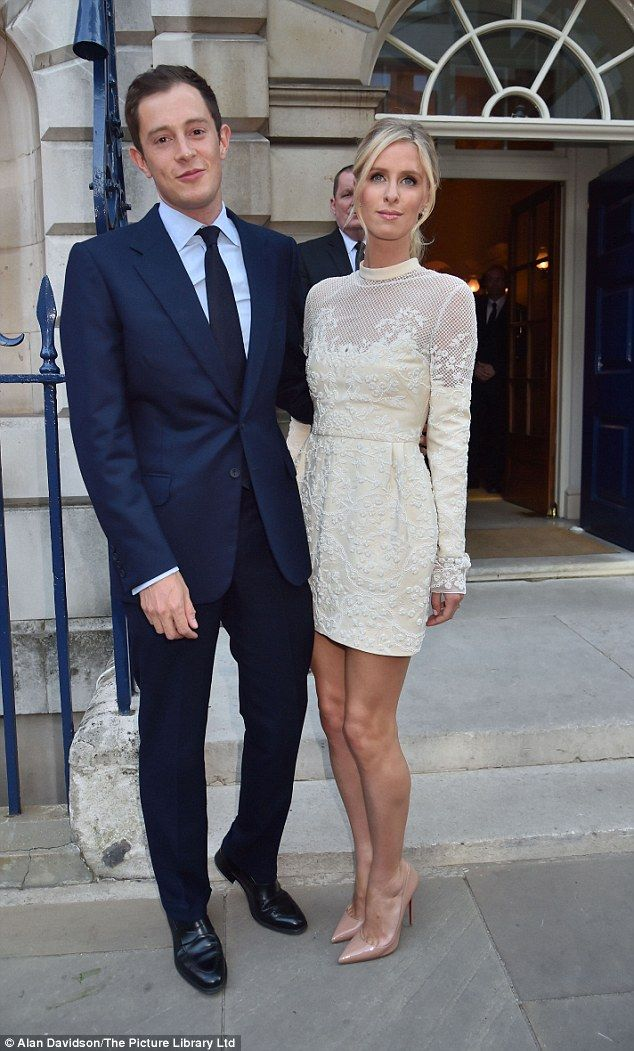 Her man:Hilton wed at Kensington Palace in London this past July after getting engaged in Italy back in 2014; here they are seen in July
