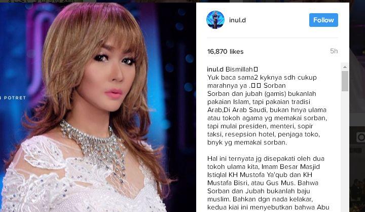 Penjelasan Inul Daratista di Instagram Setelah Dipolisikan karena Dianggap Menista Ulama