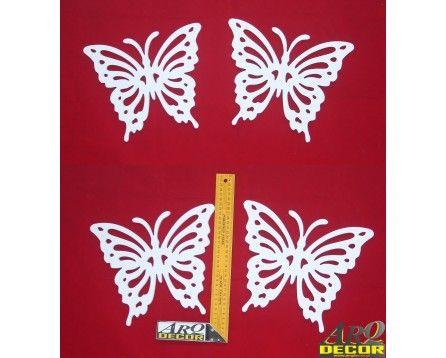 Motylki PCV - Zestaw 4 SZTUK ! Pokój dziecka, przedszkole dekoracje - ARQ - DECOR   Pracowania Dekoracji ARQ DECOR