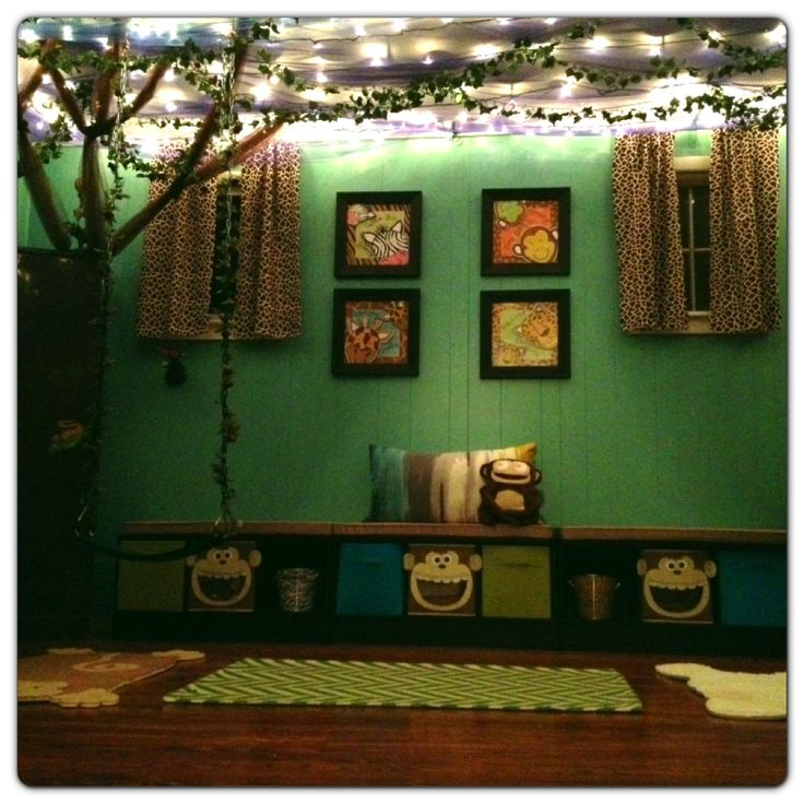 jungle themed playroom sunday school pinterest