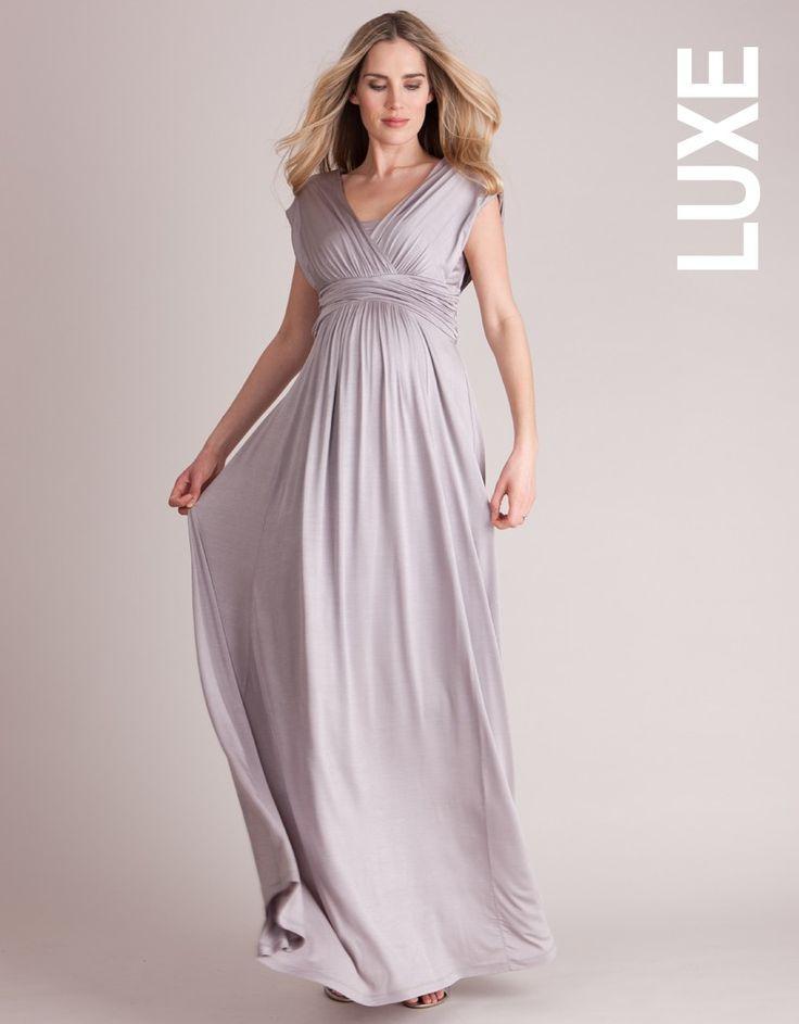Robe longue de maternité style grec - Gris | Seraphine