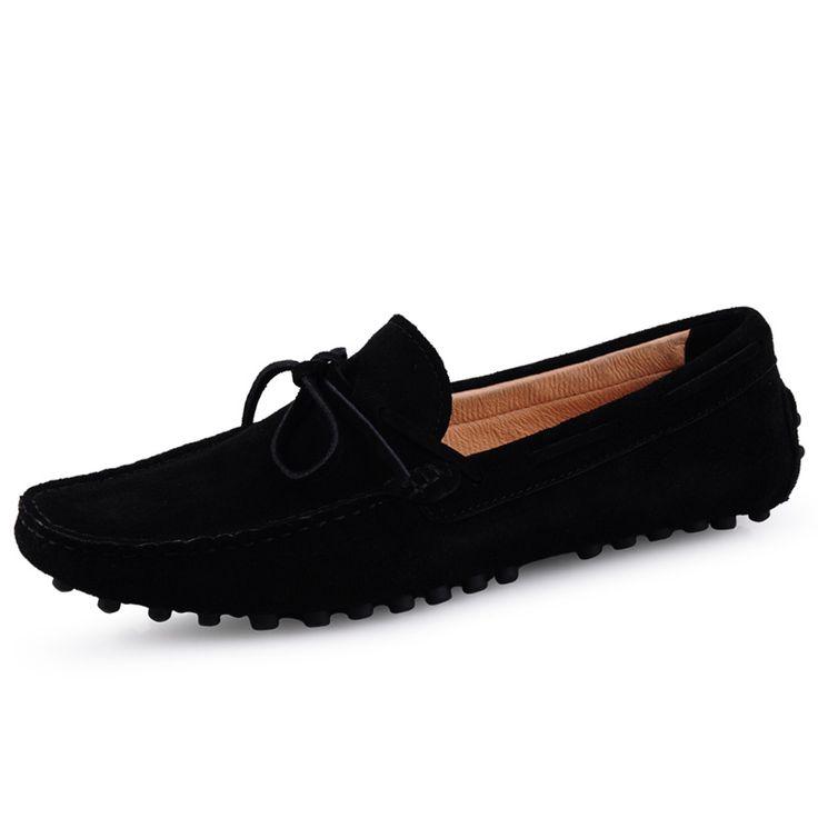 Encontrar Más Mocasines Información acerca de 2016 Negro de Los Hombres  Mocasines Mocasines Casuales Hombres Zapatos