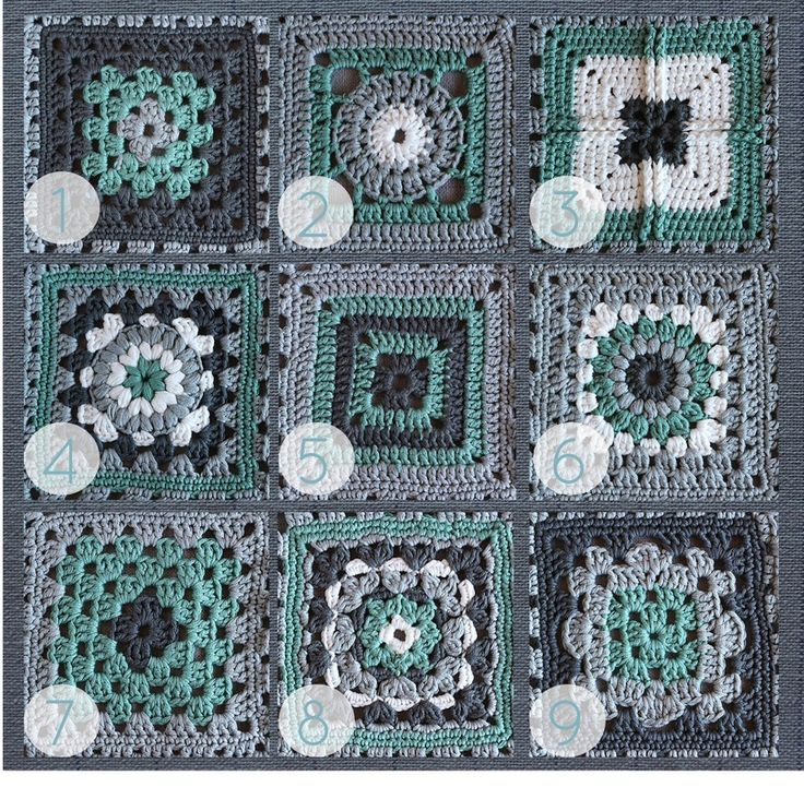 """""""Crochet meets Patchwork"""" Afghan   Green Granny Squares Pattern Round-up"""
