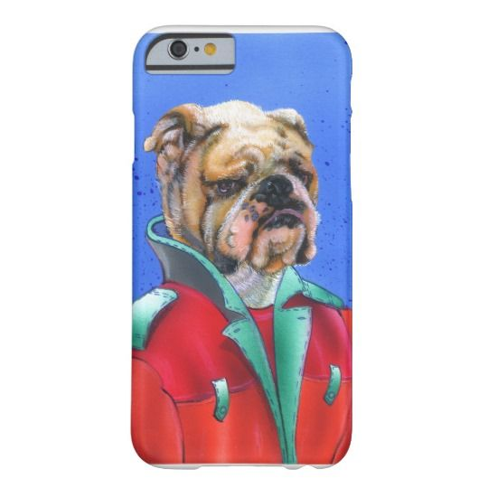 Funny dog in gentlemens outfit barely there iPhone 6 case