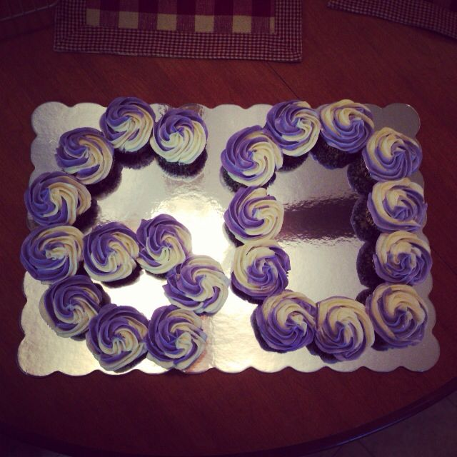 Happy 60th Birthday Cupcakes