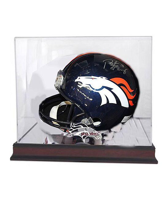 Peyton Manning Autographed Denver Broncos Helmet Figurine