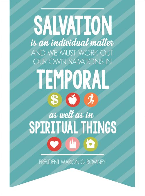 Salvation is an individual matter and we must work out our ...