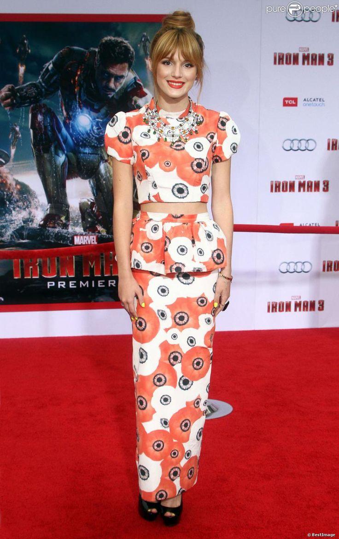 Bella Thorne lors de l'avant-première du film Iron Man 3 à Hollywood (Los Angeles) le 24 avril 2013