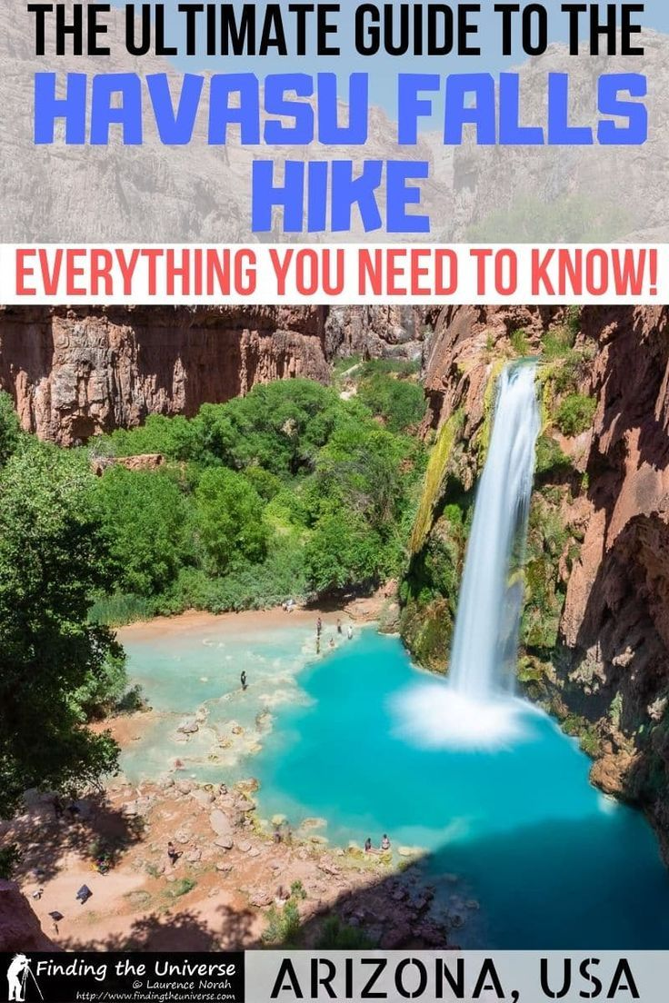 Guide To The Havasu Falls Hike In 2020 Map And Tips Havasu Falls Hike Havasu Falls Havasu