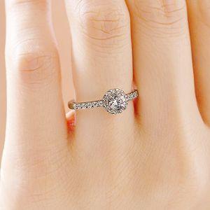 婚約指輪 PT950 ヘイロー ダイヤモンドリング エタニティタイプ for 0.3ct | BRILLIANCE+