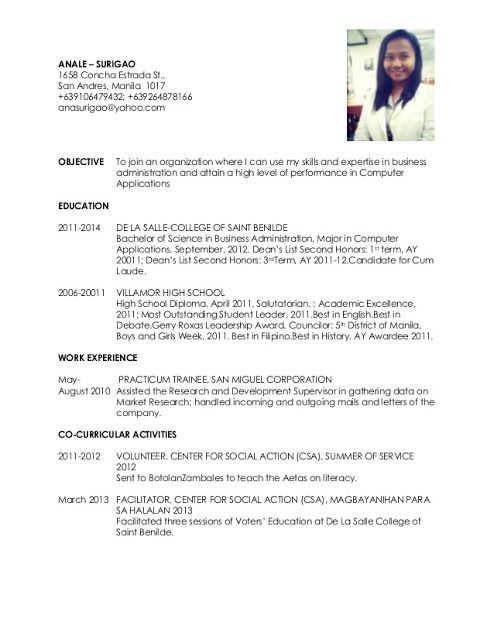Quick Resume Examples   Sample Resume Service