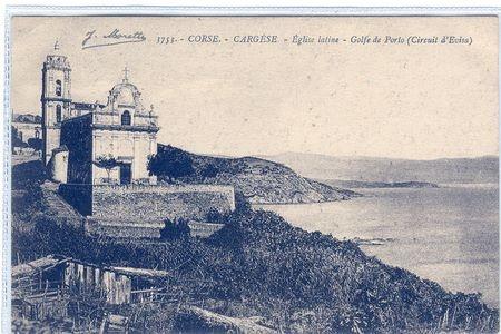 Cargèse - l'église latine Nouvelles cartes de Corse