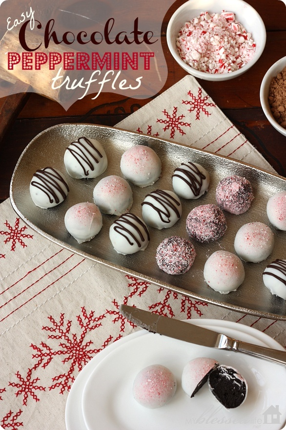 Easy Chocolate Peppermint Truffles | Christmas funz | Pinterest