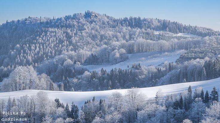 W drodze powrotnej z Wysokiej mogliśmy podziwiać piękne zimowe krajobrazy:)  #góry #Pieniny #Polska #Poland #mountains #hiking #zima