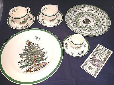 Spode Christmas Tree Place Setting Piece Set of 5 England Plate Tea Cup Expresso Pottery & Glass:Pottery & China:China & Dinnerware:Spode:Porcelain www.internetauctionservicesllc.com $49.99