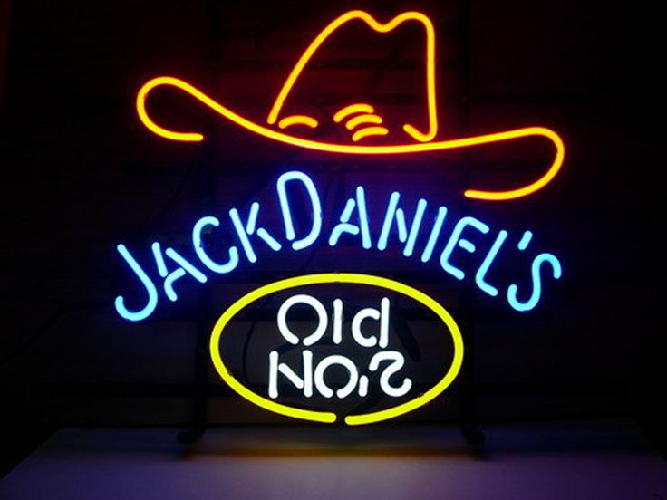 Jack Daniels Old #7 Neon Sign Real Neon Light