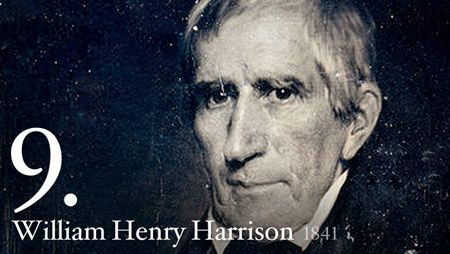 William Henry Harrison, born February 9, 1773, was the ninth President of the United States.  During his inauguration he caught a cold that developed into pneumonia and died on April 14, 1841.  He had been President less than a month.