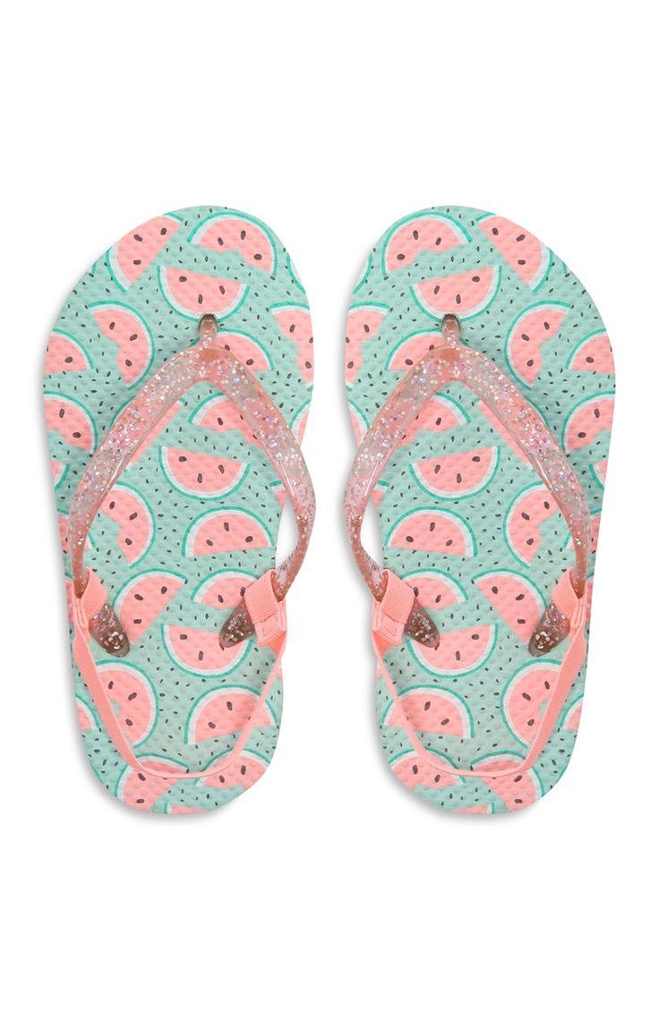 Primark - Slippers met watermeloen, meisjes