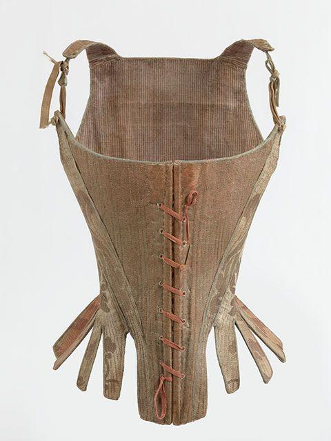 Corset, 1770-1790. MoMu - Fashion Museum Province of Antwerp, www.momu.be. Photo by Hugo Maertens, Bruges.