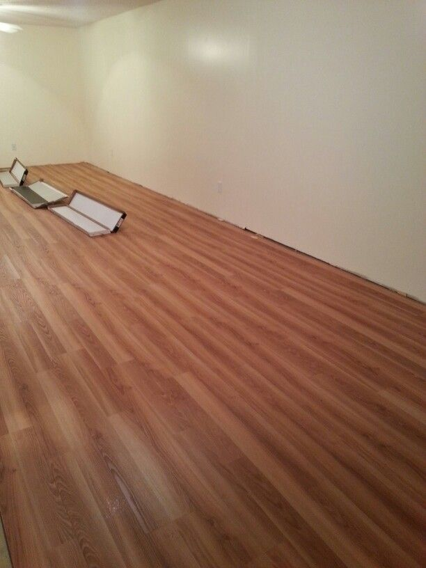 Allure Ultra Flooring Installed In Basement. Moisture Proof, Water Proof,  Locking Installation.