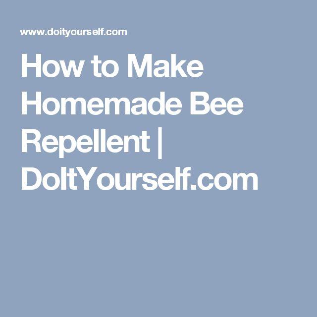 How to Make Homemade Bee Repellent | DoItYourself.com