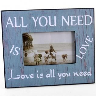 All You Need is Love Wooden Shabby Chic Photo Frame (approx 20cm x 24cm)