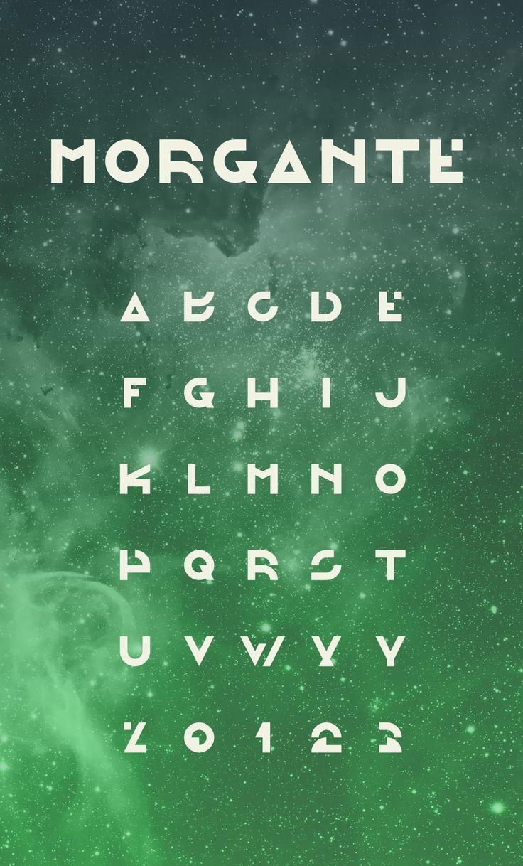 Morgante Regular Futuristic Fonts Lettering Fonts Lettering