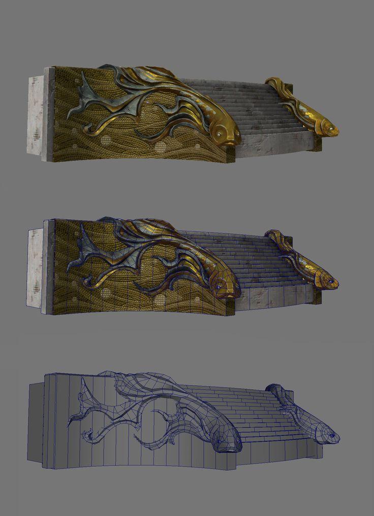 ArtStation - Guild Wars 2 Lions Arch Town Props, Nate Baerwald