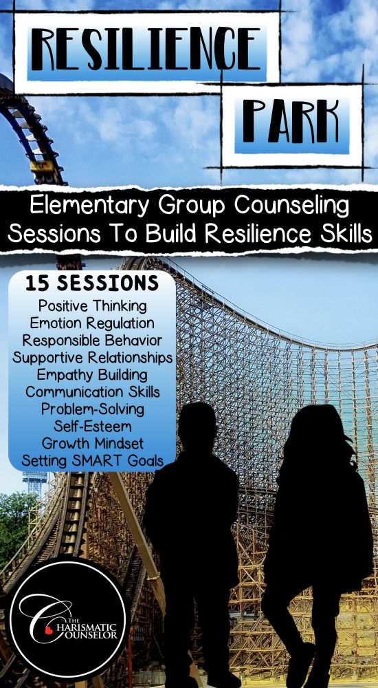 Resilience Park is a carnival theme group counseling program designed to teach upper elementary students the crucial skills they need to adapt and bounce back when faced with difficulty, adversity, trauma, and any significant sources of stress. PACKED with student activities, handouts, and games! Its versatility makes it perfect for classroom guidance and individual student counseling, too!