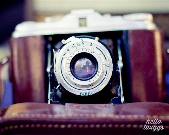 intage Style Photography, Vintage Camera, Flea Market Style, Leather Case, Wall Decor, 8x10 Fine Art Print - Vintage Memories