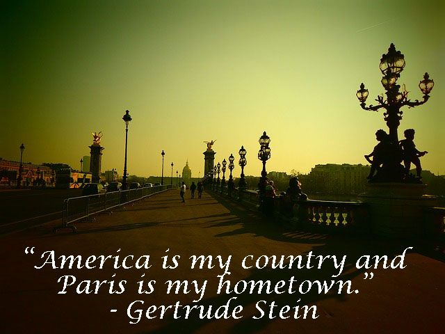 Quote By Gertrude Stein. #Quote #Paris #America