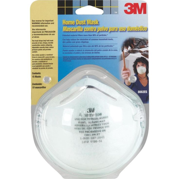 3M 15Pk Home Dust Mask