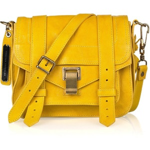 Net a porter. $1460Leather Pur, Leather Satchel, Proenza Schouler, Small Leather, Yellow Bags, Style Pinboard, Bags Lady, Schouler Ps1, Ps1 Small
