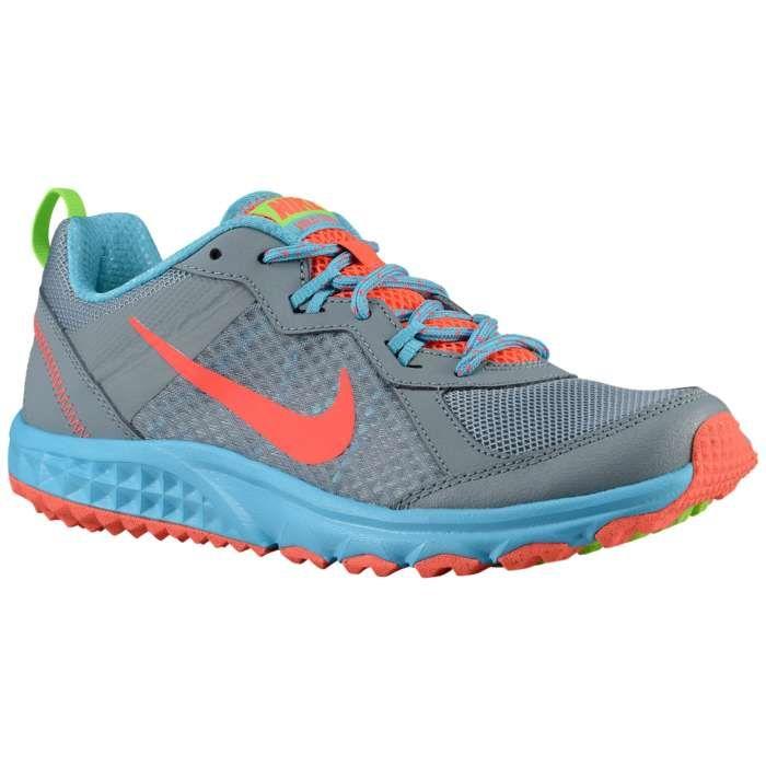 Dames Nike Wild Trail Loopschoenen - Dove Grey/Clearwater/Flash Lime/Hot Lava Te Koop