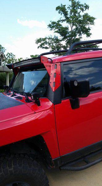 FJ Cruiser LED Curved Bar Pillar Aluminum Pillar Mounts